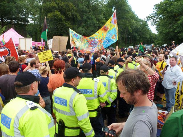 frack protest