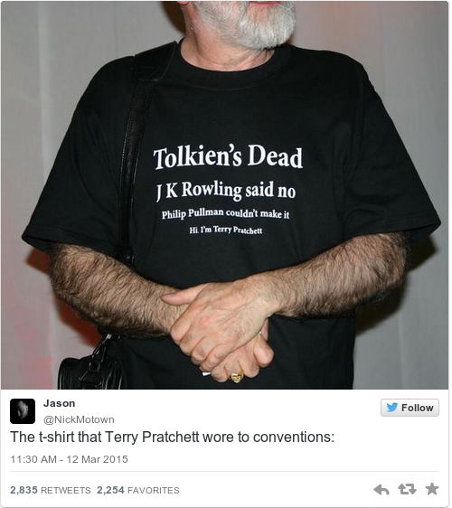 terry Pratchett is dead rising ape
