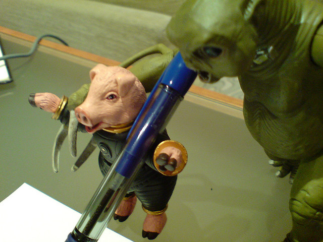 hungry aliens eat space pig rising ape